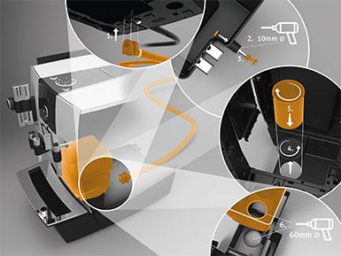 Jura - Kaffeesatzabwurf- / Restwasserablauf-Set XJ*
