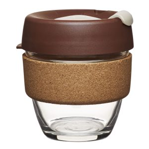 KeepCup Glass Small Brew 08oz/227ml - Almond/Kork
